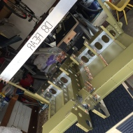 center fuselage clecoed and ready to rivet